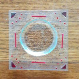 Zubehör: Seifenschale Glasfusing rot