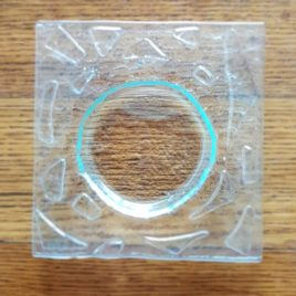Zubehör: Seifenschale Glasfusing mit Muster uni