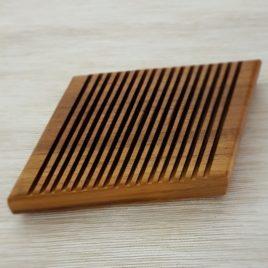 Zubehör: Seifenschale aus Nussbaumholz