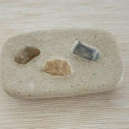 Zubehör: Seifenschale aus Zement rechteckig